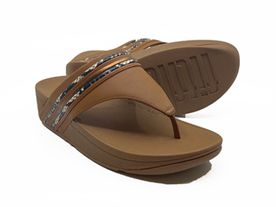Fitflop Olive Toe Post ligth tan mix