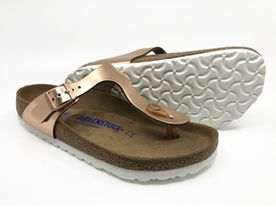 Birkenstock Gizeh SFB Metallic rose gold