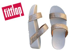 Fitflop Lottie Chevron Slide silver