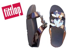Fitflop Fino Dragonflye Slide chocolate