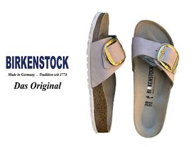 Birkenstock Madrid big buckle rosegold