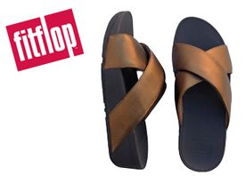 Fitflop Lulu Cross Slide bronze