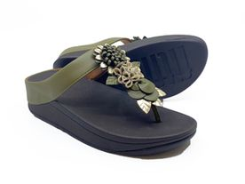 Fitflop Fino Toe Post olive
