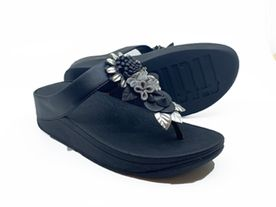 Fitflop Fino Toe Post all black