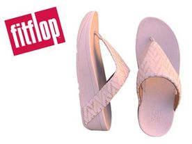 Fitflop Lottie Chevron Toe oyster pink