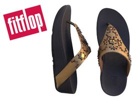 Fitflop Lottie Crescent Stud Toe bronze