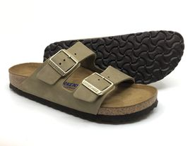 Birkenstock Arizona SFB Nubuk faded khaki