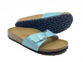 Birkenstock Madrid Birkenflor faded aqua