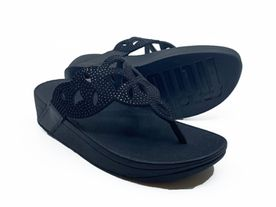 Fitflop Elora Toe Post Crystalt all black